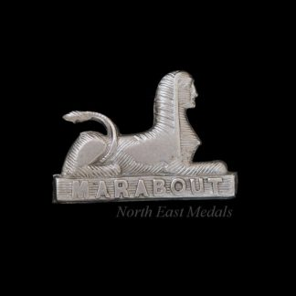 MARABOUT Spinx Dorsetshire Regiment Collar Badge