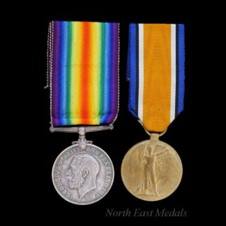 WW1 British War and Victory Medal Pair Private Reynolds Leicestershire Regiment. Wounded.