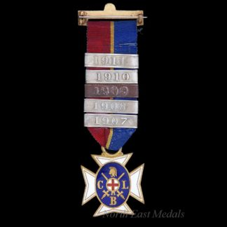 Church Lads Brigade Medal 1907-1911 Bars