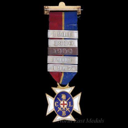Church Lads Brigade Medal 1907-1911 Bars