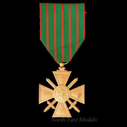 WW1 1914-18 French Croix de Guerre Gilt Version