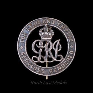 Silver War Badge King's Liverpool Regiment