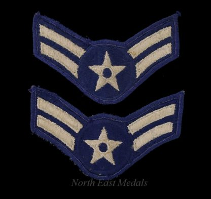 Pair of Vintage US Air Force Airman First Class Arm Badges