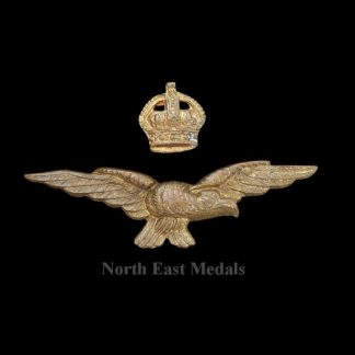 Two Part RAF Royal Air Force Officers Cap Badge