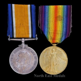 British War and Victory Medal, Johnson Scottish Rifles. Prisoner of War 23/3/ 1918