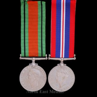 WW2 1939-45 War and Defence Medal Pair