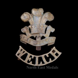 Theatre Made Welch Regiment Cap Badge and Shoulder Title