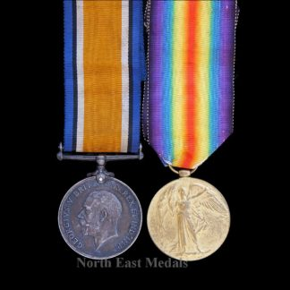 British War and Victory Medal Pair Army Cyclist Corps (Northern Cyclists) Died Gas Poisoning