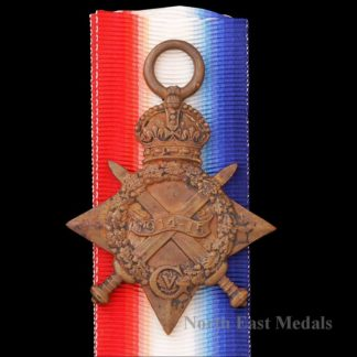 1914-15 Star Medal, Private Cormack, Northumberland Fusiliers KIA 1916, From Blyth