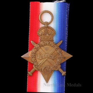 1914-15 Star Medal Private Hedley, Northumberland Fusiliers, Died of Wounds 1915