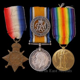 1914-15 Star Medal Trio, and Silver War Badge, Sapper Wagstaff Royal Engineers. Miner, Tunneller