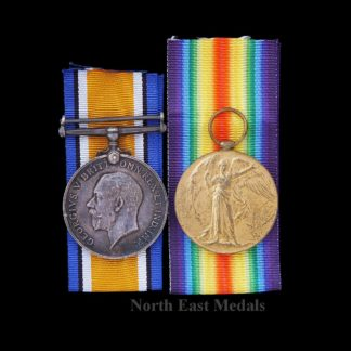 Great War British War and Victory Medal Pair. Gunner Wyatt Royal Artillery