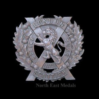London Scottish Bonnet/Cap Badge
