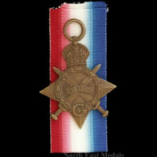 1914-15 Star Medal Saddler Jeffries of the Royal Field Artillery