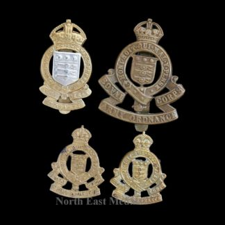 WW2 Royal Army Ordnance Corps Cap Badge and Collars. +1
