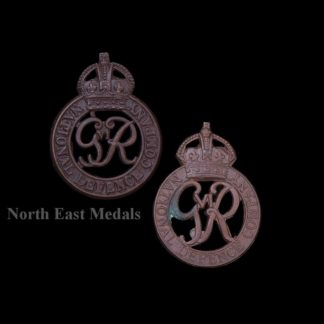 Two National Defence Company Officer's OSD Bronze Collar Badges
