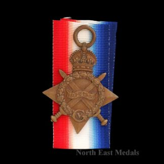 1914-15 Star Medal Private Living, Essex R. and London Irish DOW 1918. Jerusalem