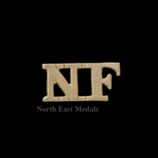 Great War 'NF' Northumberland fusiliers Shoulder Title Badge