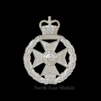 The Royal Green Jackets Officers Silver Plated Cap Badge