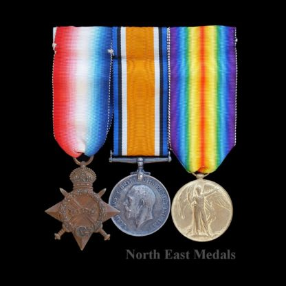 1914-15 Star Medal Trio Pte Whittaker, 9th Lancers. Wounded