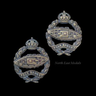 Pair of Royal Tank Regiment Officers 'OSD' Collar Badges