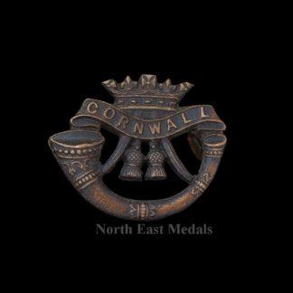 Duke of Cornwall's Light Infantry Officers 'Bronze' OSD Collar Badge