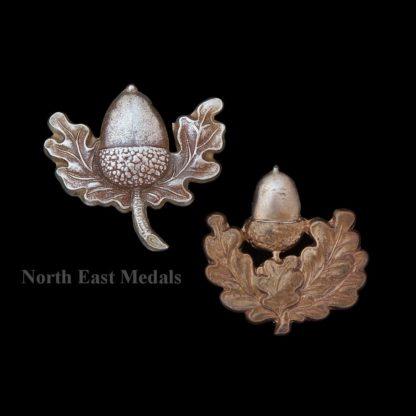 Two Cheshire Regiment Collar Badges. Including Volunteer Type