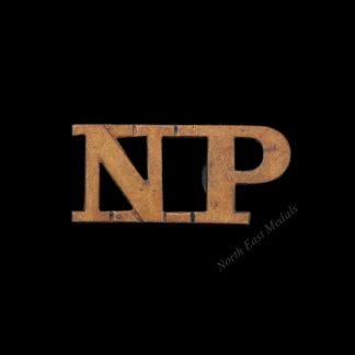 'NP' Natal Police Shoulder Title