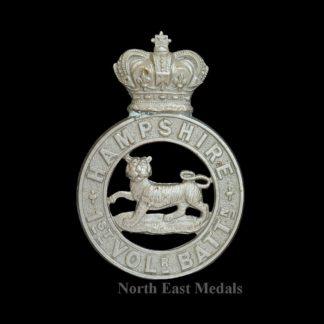 Hampshire Regiment 1st Volunteer Battalion Glengarry Badge
