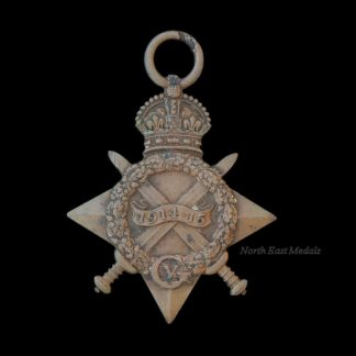 Erased WW1 1914-15 Star Medal