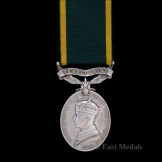 Efficiency Medal (Territorial) GVIR Sgt Rowson, Royal Artillery Wounded Western Desert