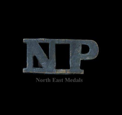 'NP' Natal Police Shoulder Title Badge