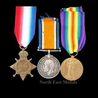 1914-15 Star Medal Trio Pte Hulme, Northumberland Fusiliers pow, 1918