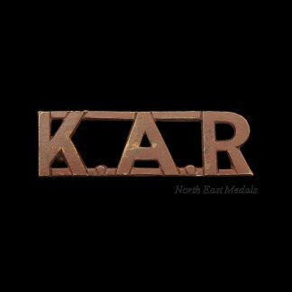 King's African Rifles Shoulder Title Badge 'KAR'