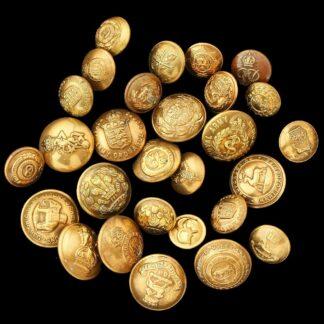 Assortment of Brass Uniform Buttons (Army)