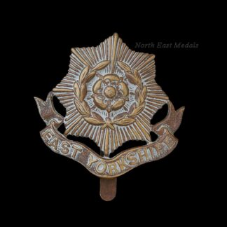 WW1 East Yorkshire Regiment all Brass Economy Issue Cap Badge