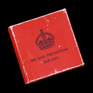 'Home Front' Silver ARP Air Raid Precautions Lapel Badge + Box