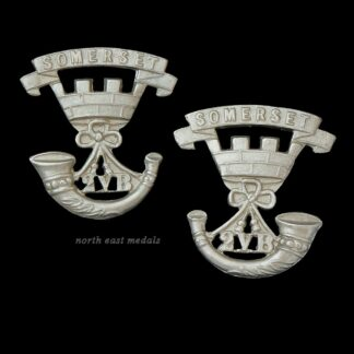 Pair of 2nd Volunteer Battalion Somerset Light Infantry Collar Badges