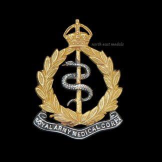 Royal Army Medical Corps, RAMC, Officer's Silver & Gilt Collar Badge