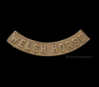 Welsh Horse Yeomanry Shoulder Title Badge