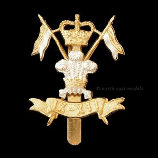 9th/12th Royal Lancers (Prince of Wales's) Staybrite Cap Badge