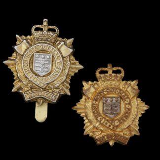 Two Royal Logistics Corps Cap Badges, Modern Metals