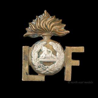 Lancashire Fusiliers, Grenade Type Shoulder Title Badge