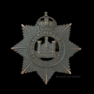Devonshire Regiment Officers OSD Cap Badge