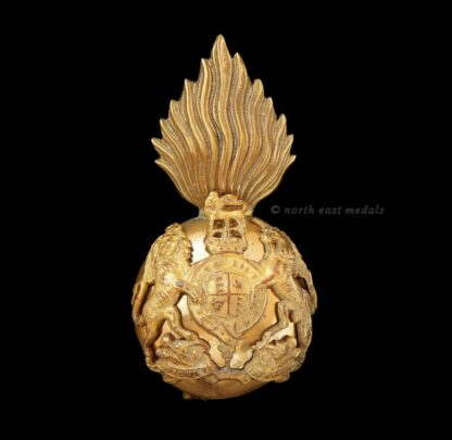 Royal Scots Fusiliers Officer's Gilt Glengarry Badge
