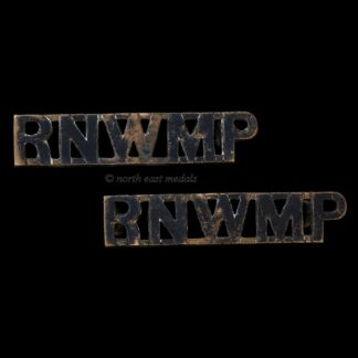 Nice Matching Pair of Royal North West Mounted Police Shoulder Title Badges 'RNWMP'