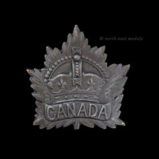 Canadian Army Maple Leaf Badge, Black Finish.