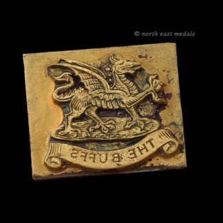 The Buffs Royal East Kent Regiment Ink Document Stamp