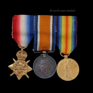 Mounted Miniature WW1 1914-15 Star Medal Trio