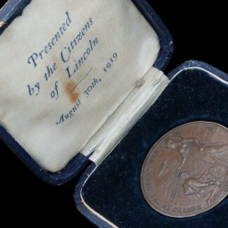 City of Lincoln 1919 Great War Peace Medal